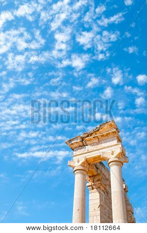 Top Of The Sanctuary Of Apollo Hylates Opposite Blue Sky