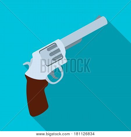Pocket revolver. The weapons detective, for protection from robbers.Detective single icon in flat style vector symbol stock web illustration.