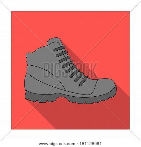 Grey men shoes oxfords. Casual shoes for autumn and spring .Different shoes single icon in flat style vector symbol stock web illustration.