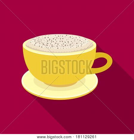 Cup of cappuccino.Different types of coffee single icon in flat style vector symbol stock illustration .