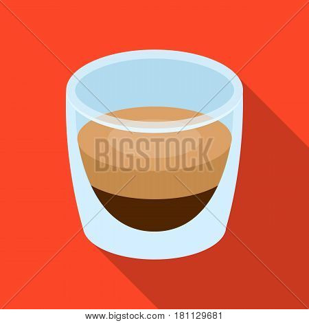 Ristretto glass.Different types of coffee single icon in flat style vector symbol stock illustration .
