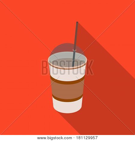 Latte for take-away.Different types of coffee single icon in flat style vector symbol stock illustration .