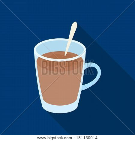 Cup of cocoa.Different types of coffee single icon in flat style vector symbol stock illustration .