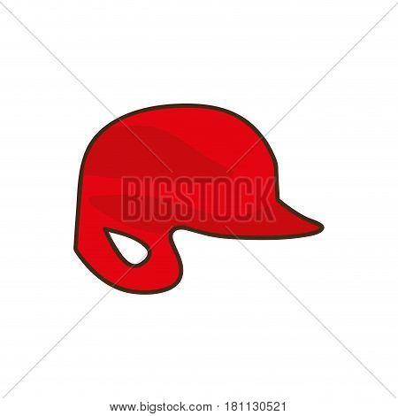 silhouette color with baseball helmet vector illustration