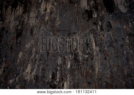 Dark background texture in black and brown colours.Sloppy paint strokes