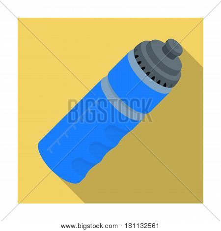 Sports bottle with water. Water balance in training.Gym And Workout single icon in flat style vector symbol stock web illustration.