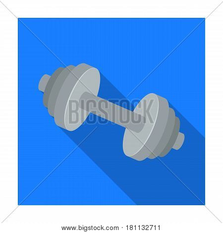 Weights for training. Metal training tools.Gym And Workout single icon in flat style vector symbol stock web illustration.