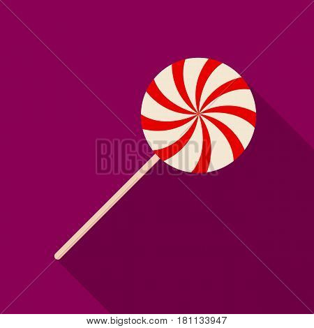 Sweet candy on a stick.Party and parties single icon in flat style vector symbol stock web illustration.