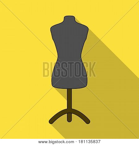 Plastic dummy on the stand.Sewing or tailoring tools kit single icon in flat style vector symbol stock web illustration.