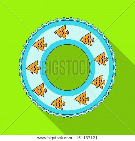 Rescue swimming circle.Summer rest single icon in flat style vector symbol stock web illustration.