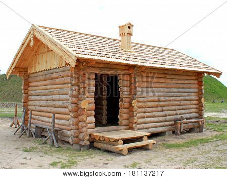 Izba is a wooden old house in ancient people who lived on the site of Ukraine