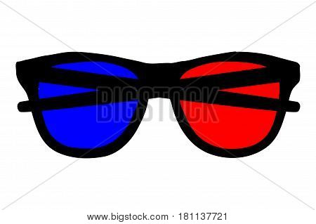 3d glasses icon vector illustration , glasses