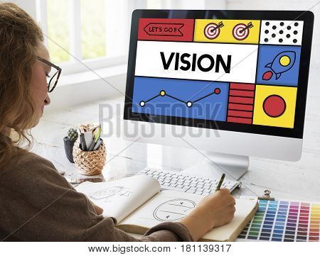 Vision Inspiration Target Graphic Word