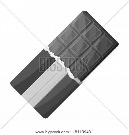 Belgian  chocolate.The dark Belgian wolf. Belgium single icon in monochrome style vector symbol stock web illustration.