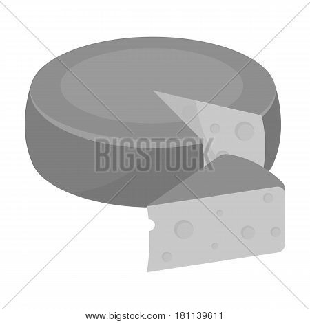 A real Belgian cheese.The dark Belgian wolf. Belgium single icon in monochrome style vector symbol stock web illustration.