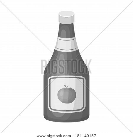 Bottle of ketchup.Burgers and ingredients single icon in monochrome style vector symbol stock web illustration.