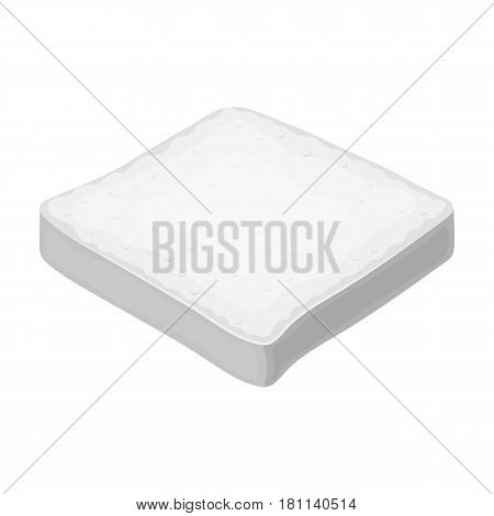 Bread is a piece of a sandwich.Burgers and ingredients single icon in monochrome style vector symbol stock web illustration.