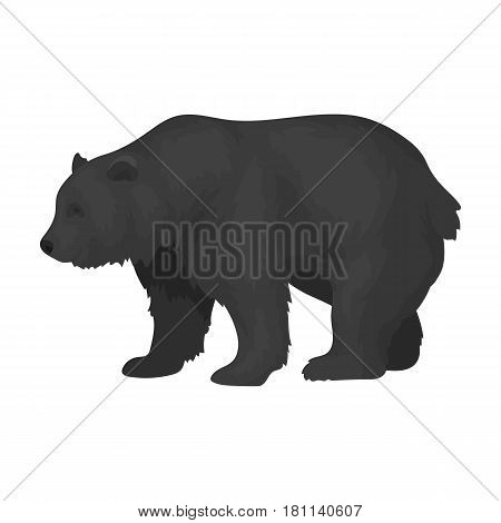 Canadian brown bear. Canada single icon in monochrome style vector symbol stock illustration .