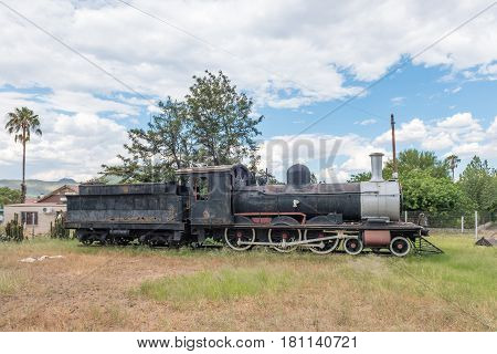 GRAAFF REINET SOUTH AFRICA - MARCH 22 2017: Historic SAR Class 6 steam engine no 429 built in 1893 at the train station in Graaff Reinet