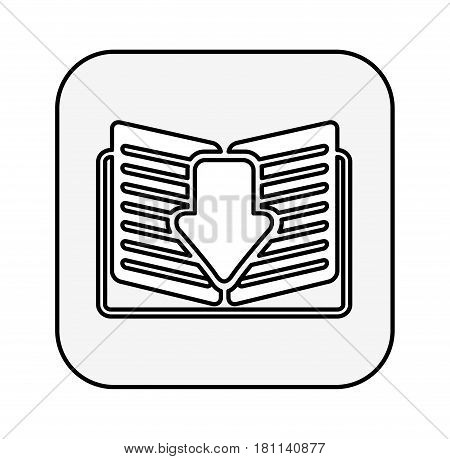ebook with arrow download isolated icon vector illustration design