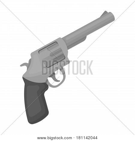 Pocket revolver. The weapons detective, for protection from robbers.Detective single icon in monochrome style vector symbol stock web illustration.
