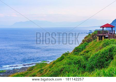 Sea view from a mountain on the east coast of Taiwan