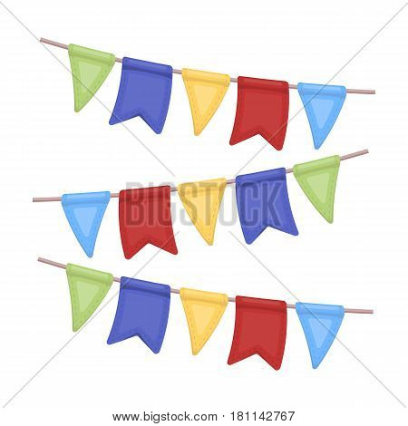 Festive colorful ribbons.Party and parties single icon in cartoon style vector symbol stock web illustration.