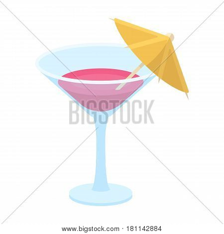 Glass with a cocktail.Party and parties single icon in cartoon style vector symbol stock web illustration.
