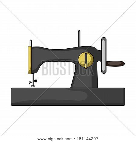 Machine for fast sewing.Sewing or tailoring tools kit single icon in cartoon style vector symbol stock web illustration.