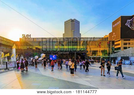 BANGKOK THAILAND - FEBRUARY 05: This is Siam center shopping mall. It is a popular shopping mall for both local Thai people are tourists in the downtown Siam area of Bangkok on February 05 2017 in Bangkok