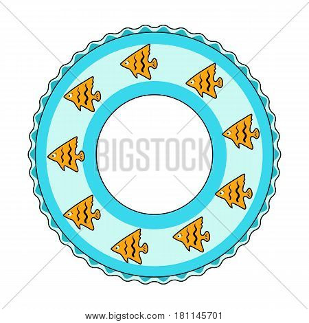 Rescue swimming circle.Summer rest single icon in cartoon style vector symbol stock web illustration.