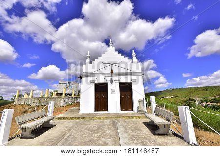 The white Church. City of Piranhas. Brazil