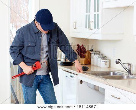 Plumber worker.