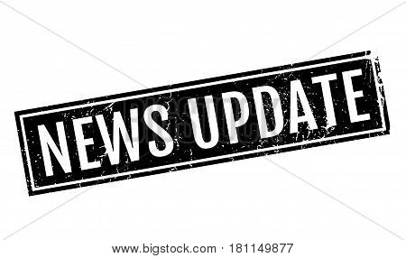 News Update rubber stamp. Grunge design with dust scratches. Effects can be easily removed for a clean, crisp look. Color is easily changed.