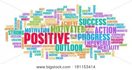 Positive Word Cloud Concept on White