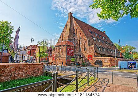 Great Brick Mill In Gdansk