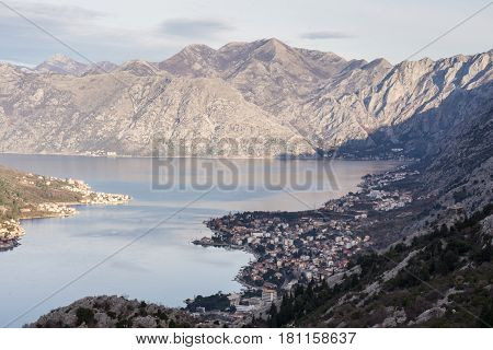 Kotor Bay Tivat Adriatic Sea Mountains