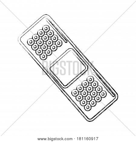 contour aid band emergency tool, vector illustraton