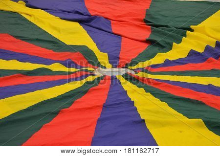Physical education colorful rainbow parachute activity game
