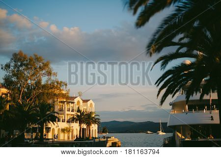District Porto Montenegro, Elite cottages, villas by the sea, Hotels and restaurants. Elite life in Montenegro, Tivat. Immobility for the rich.