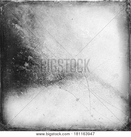 Medium format film frame with grain textured background