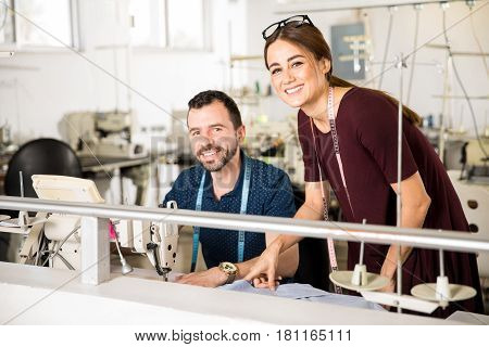 Supervisor And Worker In A Factory
