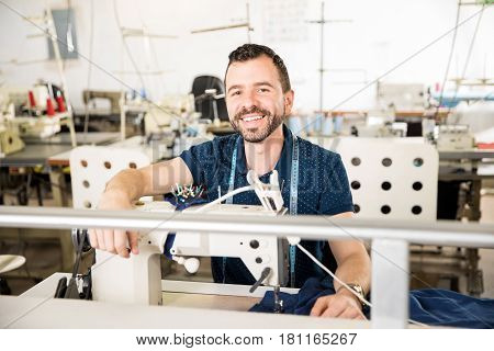 Male Tailor Enjoying His Job