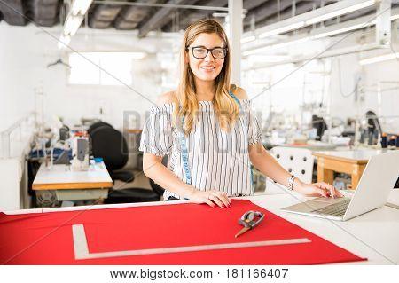 Portrait Of A Gorgeous Fashion Designer