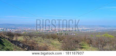 Cluj Napoca city Romania panorama view landscape architecture
