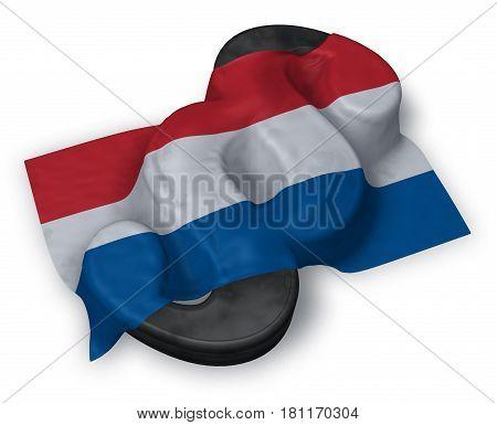 paragraph symbol and dutch flag - 3d illustration