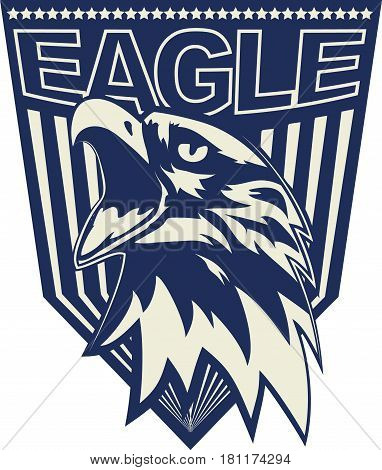 Head of the eagle in the form of a logotype. Vector image.