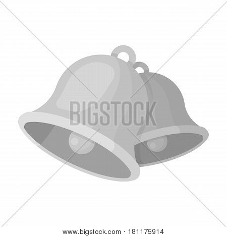 Church bells. Easter single icon in monochrome style vector symbol stock web illustration.