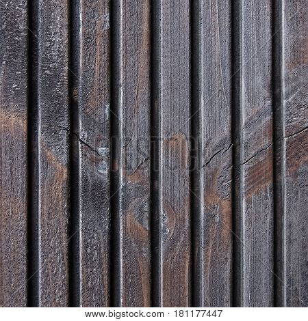 Wooden Plank Terrace Board Black Grey Wood Tar Paint Texture Detail Large Old Aged Dark Gray Detailed Cracked Timber Rustic Macro Closeup Pattern Blank Empty Vertical Rough Textured Copy Space Grunge Weathered Vintage Woodwork Painted Background