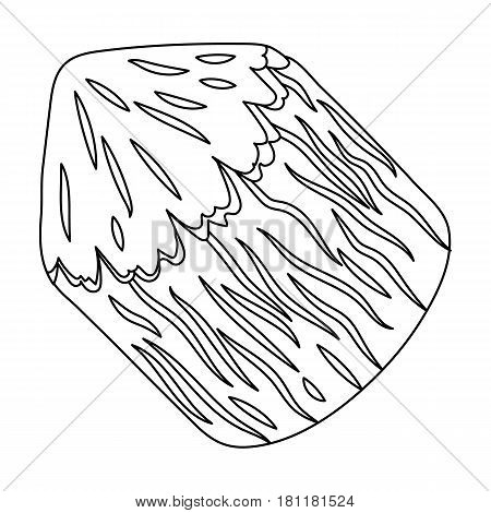 Conical log. Canada single icon in outline style vector symbol stock illustration .